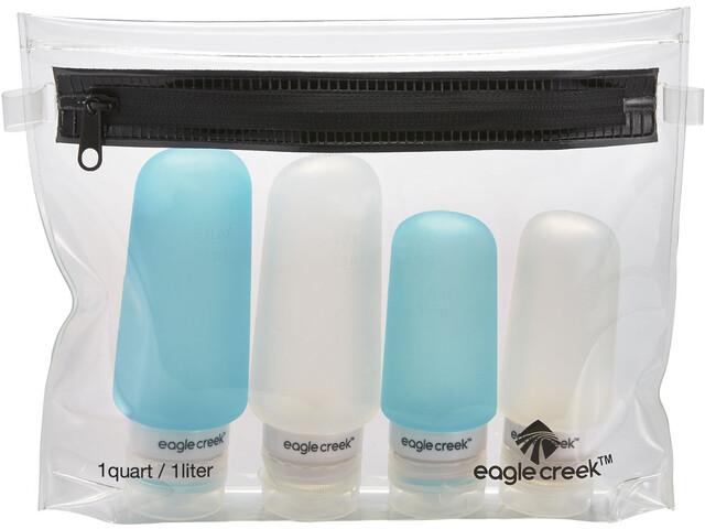 Eagle Creek Silicone Drinklessen Set, clear/aqua